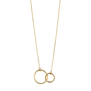 9kt Gold Double Circle Pendant