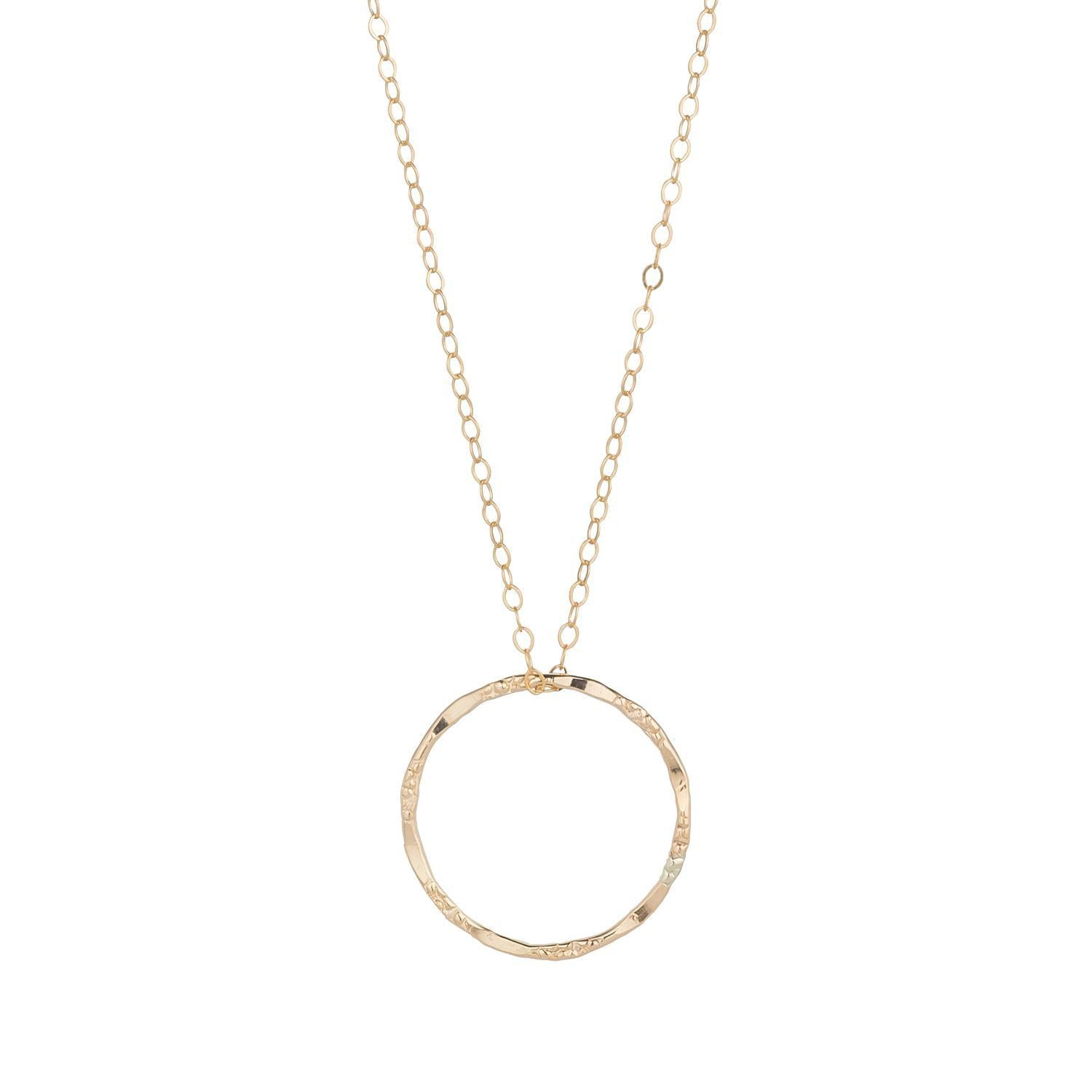 Gold Filled Molten Circle Pendant (4 Sizes)