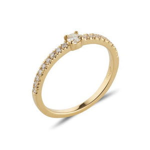 18kt Yellow Gold Stacking Diamond Band