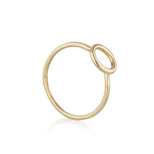 9kt Yellow Gold Circle Ring - MoMuse Jewellery
