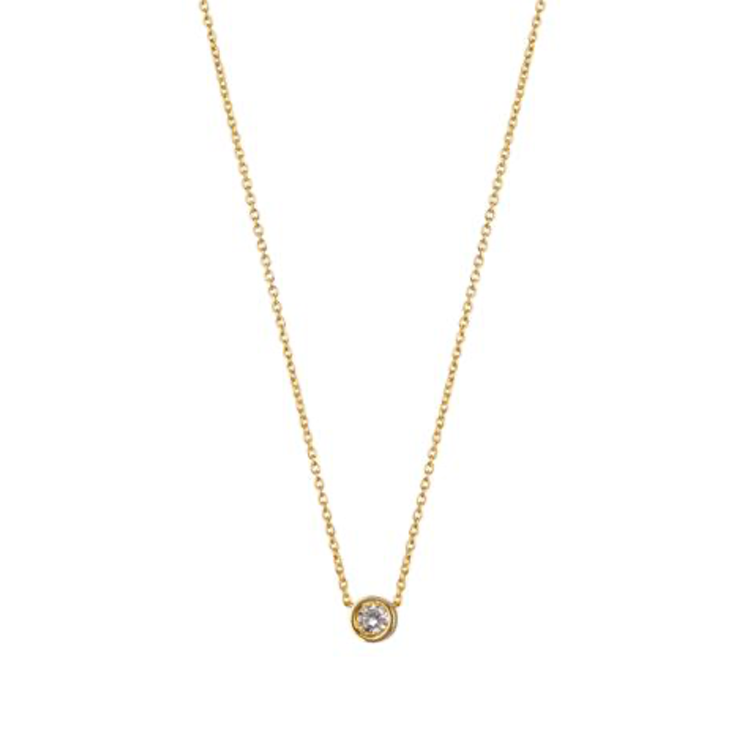 9kt Gold & Solitaire Diamond Pendant