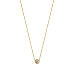 Load image into Gallery viewer, 9kt Gold & Solitaire Diamond Pendant