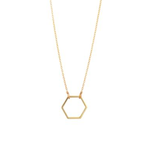 Load image into Gallery viewer, 9kt Gold Hexagon Pendant