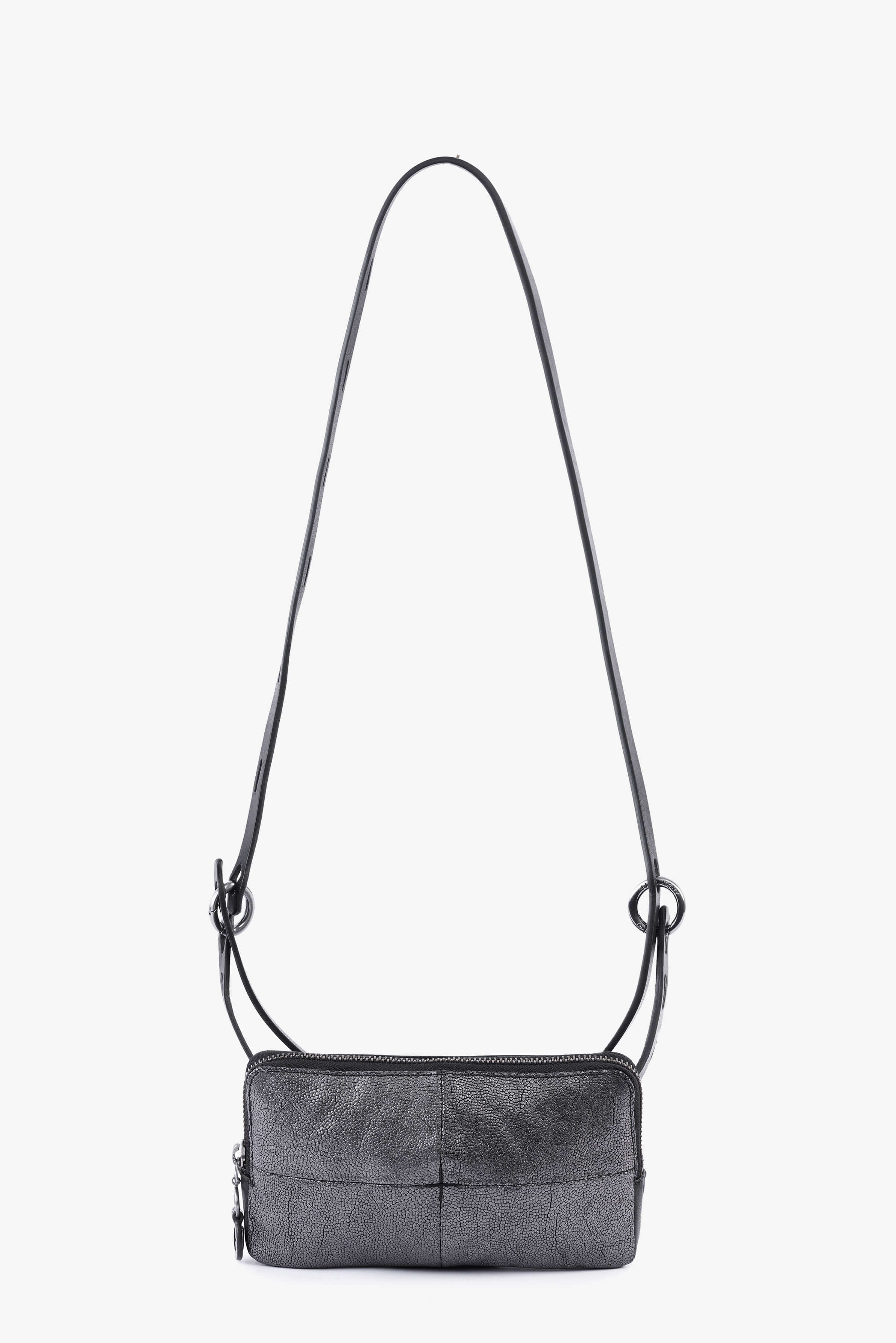 Ina Kent Honeycomb Black & Black Leather Small Handbag - MoMuse Jewellery