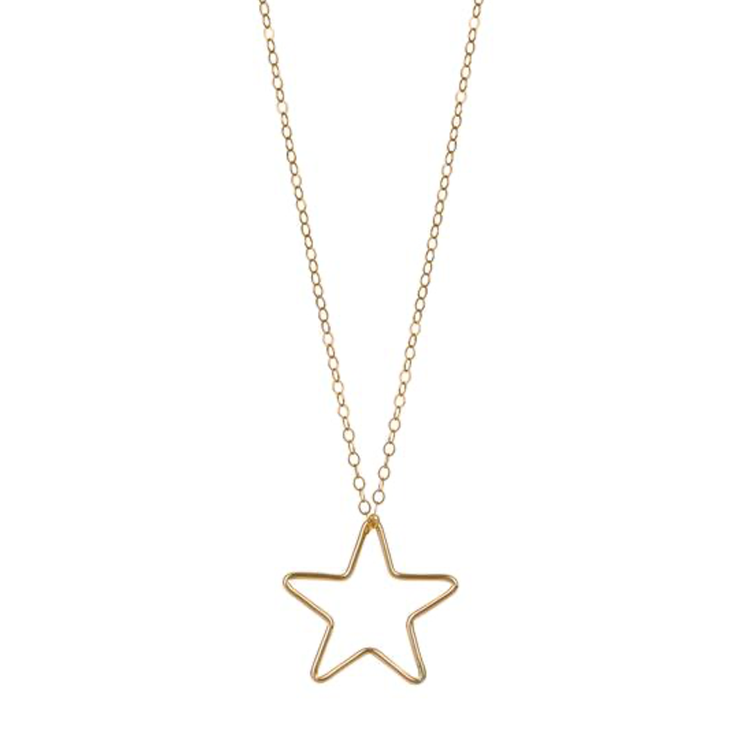 Gold Filled Large Star Pendant