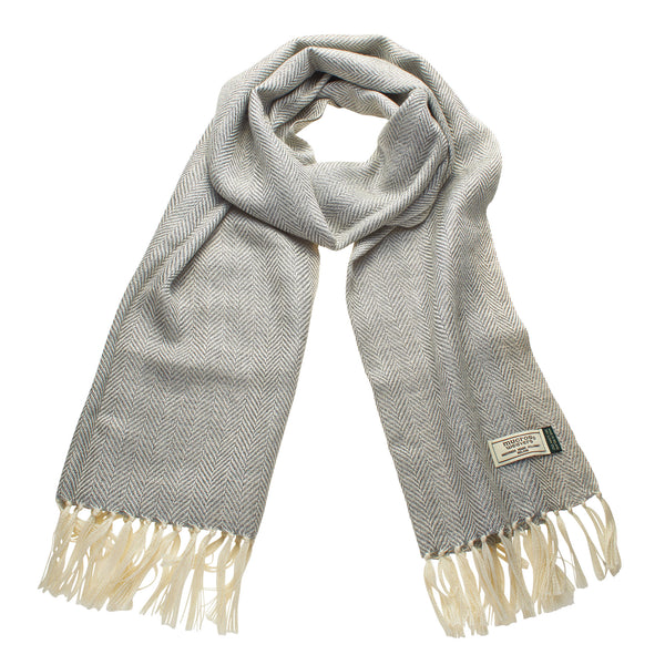 Mucros Weavers Alpaca and Silk Scarf Mid Grey