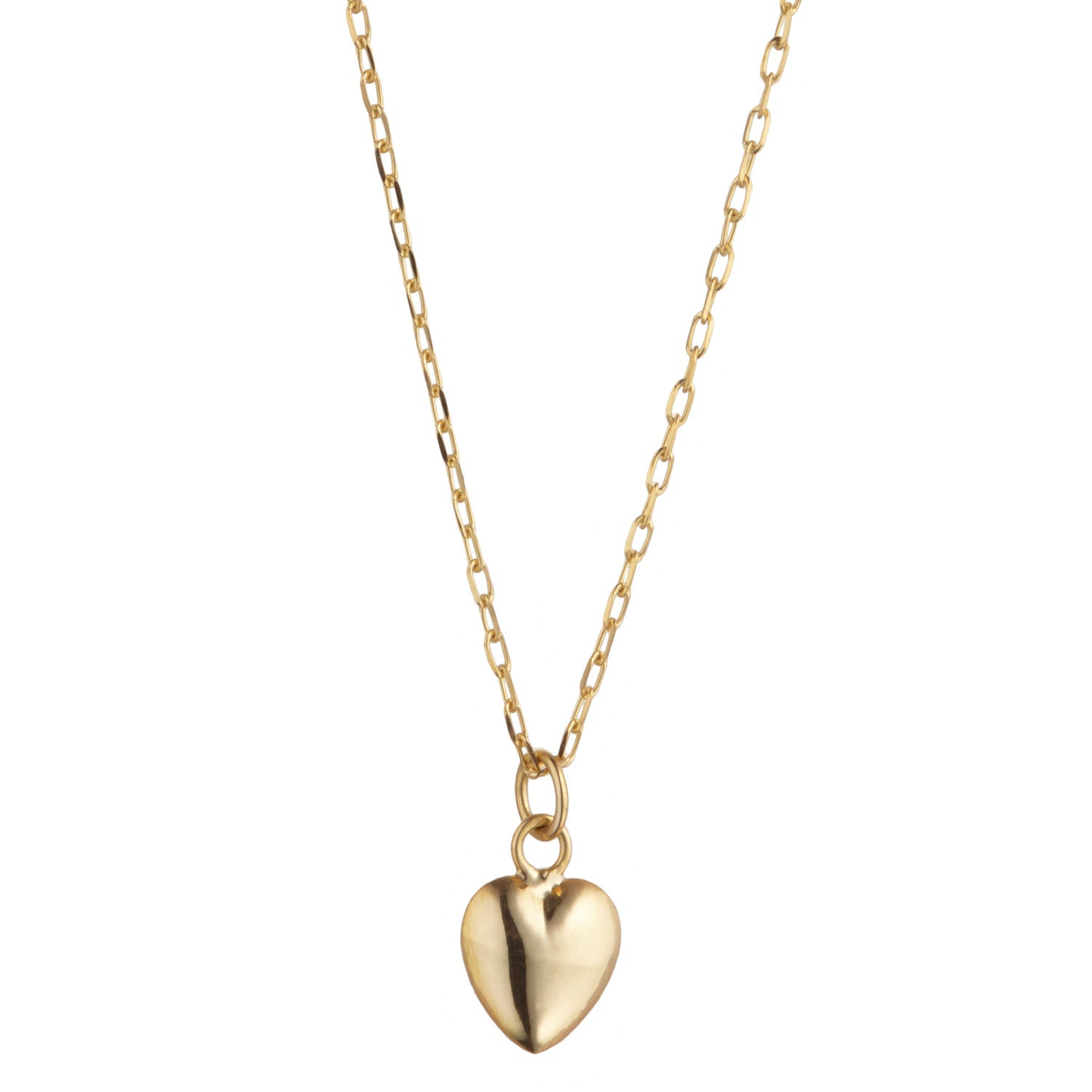 9kt Gold 3D Heart Necklace - MoMuse Jewellery