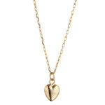 Load image into Gallery viewer, 9kt Gold 3D Heart Necklace - MoMuse Jewellery