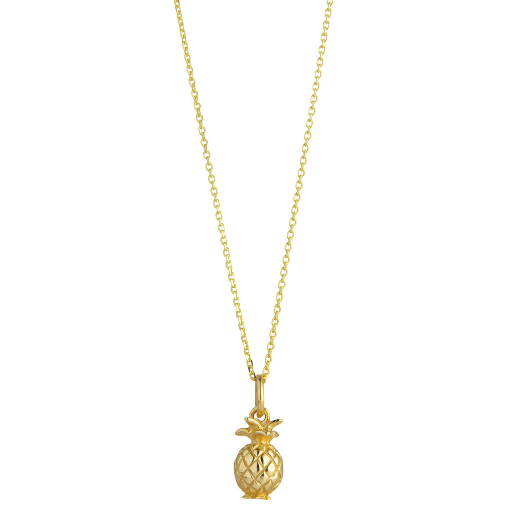 9kt Gold Pineapple Pendant - MoMuse Jewellery
