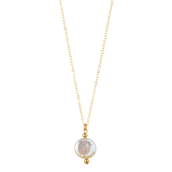 Petite Coin Pearl Necklace