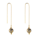 Load image into Gallery viewer, 14kt Gold Filled Dalmatian Jasper Threader Earrings - MoMuse Jewellery