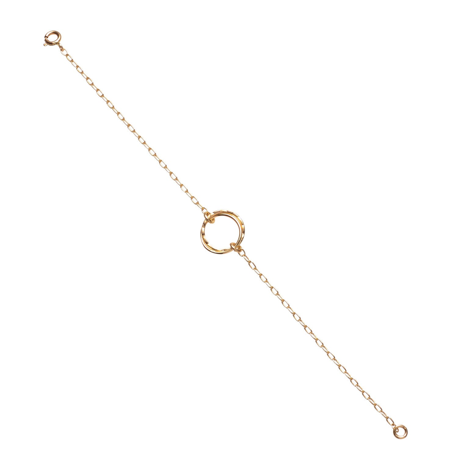 14kt Gold Filled Fused Two Circle Bracelet - MoMuse Jewellery