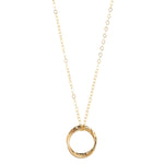 Load image into Gallery viewer, 14kt Gold Filled Double Fused Circle Pendant - MoMuse Jewellery