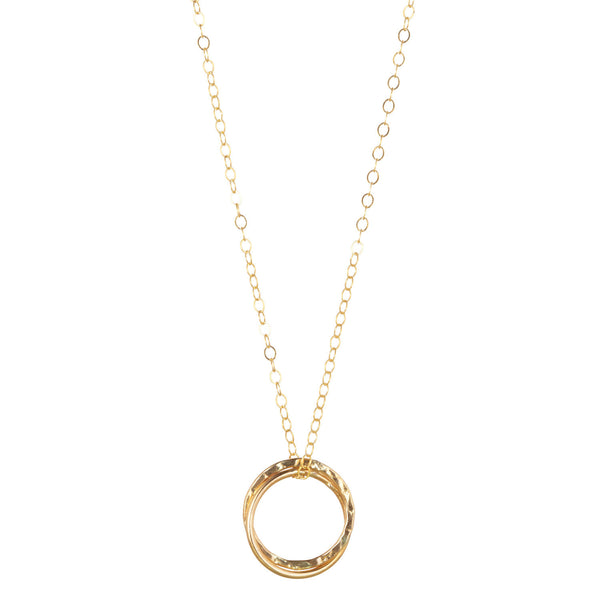 14kt Gold Filled Double Fused Circle Pendant