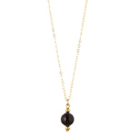 Load image into Gallery viewer, 14kt Gold Filled Petite Black Onyx Necklace - MoMuse Jewellery