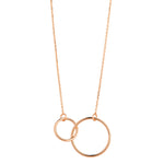Load image into Gallery viewer, 9kt Rose Gold Double Circle Necklace - MoMuse Jewellery