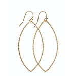 Load image into Gallery viewer, 14kt Gold Filled Hammered Oval Earrings (Large)