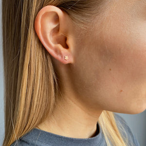 9kt Gold Star Stud Earrings