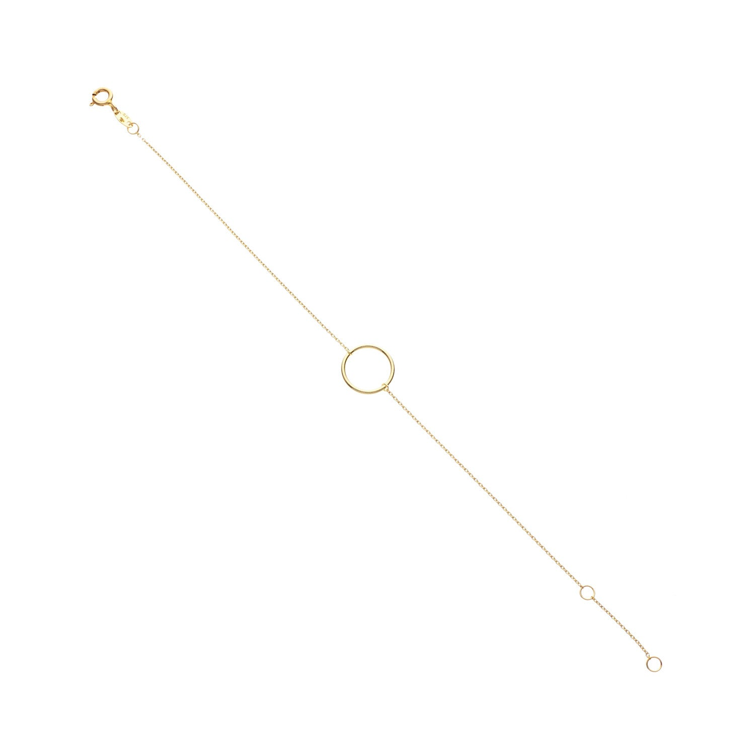 9kt Gold Single Circle Bracelet - MoMuse Jewellery