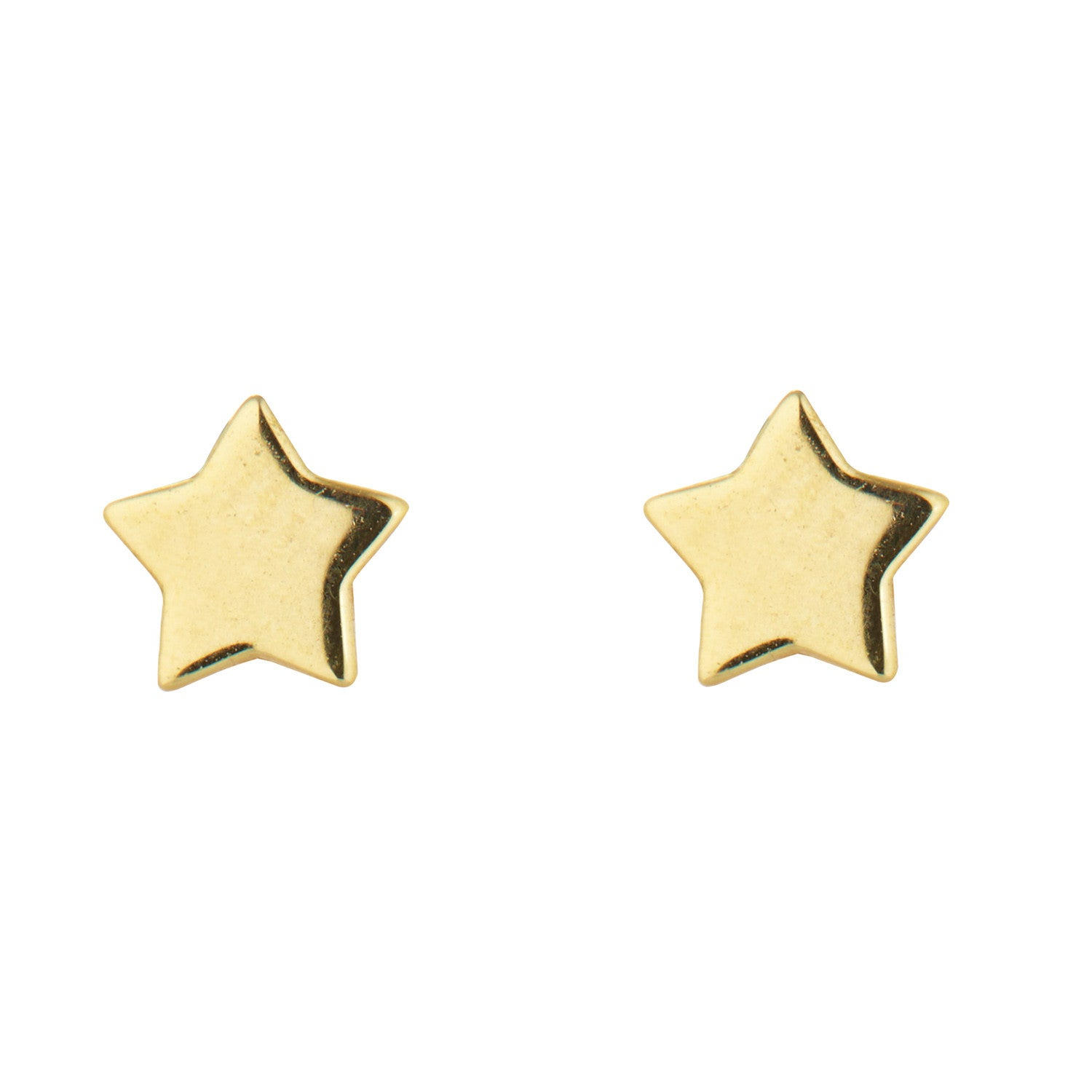 9kt Gold Star Stud Earrings - MoMuse Jewellery