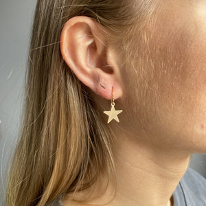 14kt Gold Filled in Star Charm Earrings