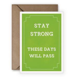 Simple Things 'Stay Strong' Card - MoMuse Jewellery