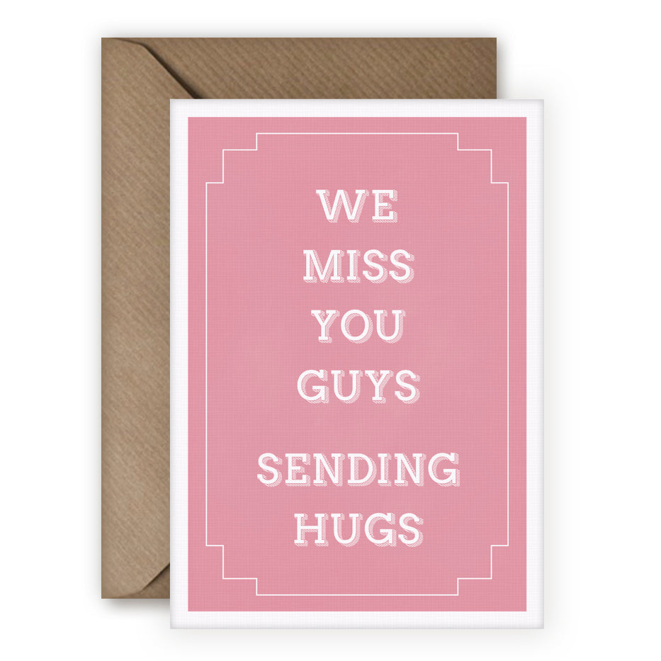 Simple Things 'We Miss You' Card - MoMuse Jewellery