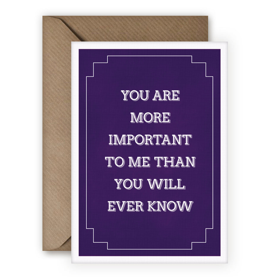 Simple Things 'You Are Important' Card - MoMuse Jewellery