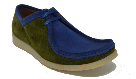 Alexander - Olive / Blue Suede (Sample)