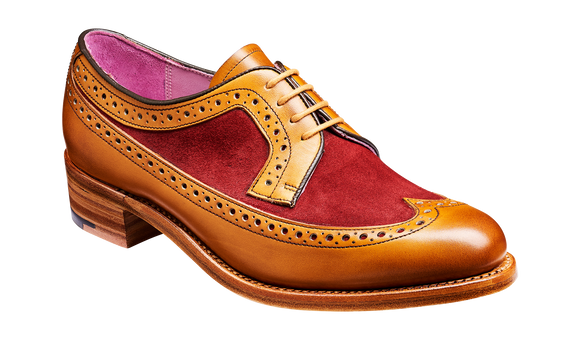 Abbey – Cedar Calf / Burgundy Suede