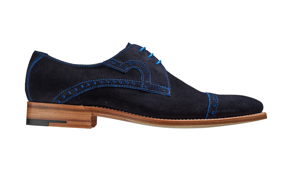 Ashton – Navy Cut Through Suede