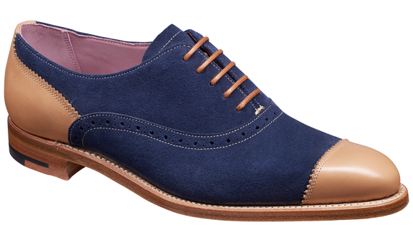 Faith – Navy Suede / Beige Calf