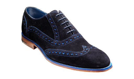 Grant – Navy / Blue Suede