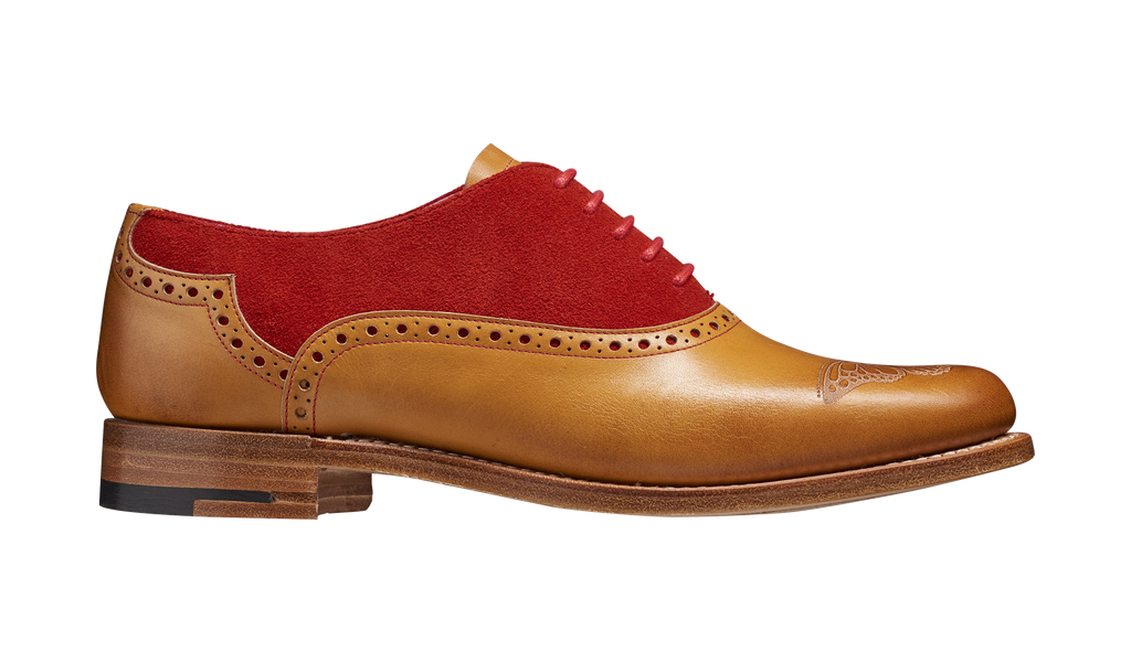 Gwen – Cedar Calf / Red Suede