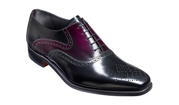Langley – Black / Aubergine Hi-Shine