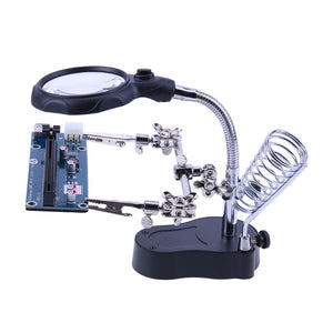 Welding magnifying glass with LED light