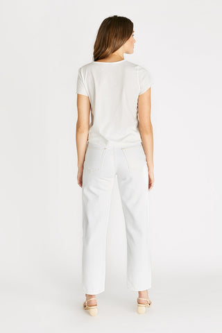 Ética - Aiden Organic Cotton V Neck Tee - Cloud White