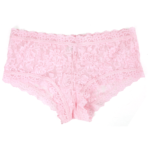 Hanky Panky Rolled Signature Lace Boyshort - Bliss Pink