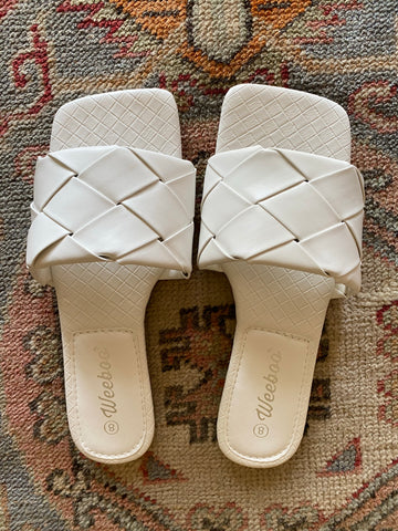 Square Slides - White