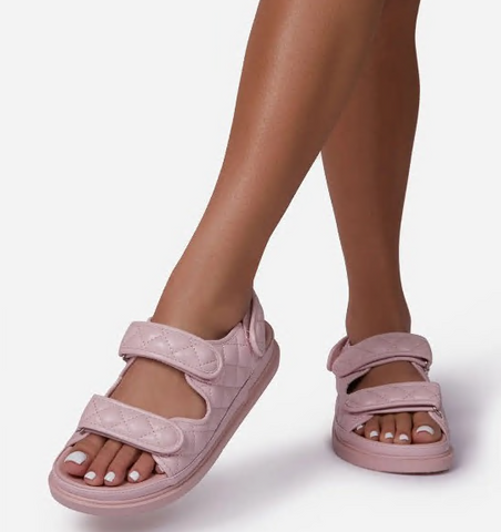 Quilted Pink Sporty Sandal