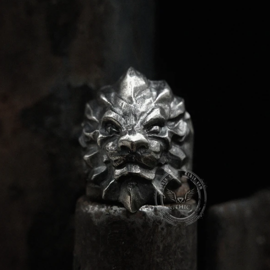 3d Lion Sterling Silver Beast Ring - Gthic.com - Blog