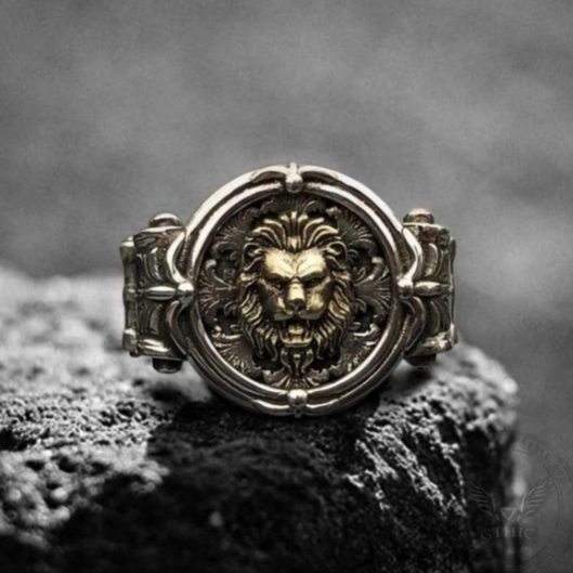 Baroque Lion Sterling Silver Signet Ring - Gthic.com - Blog
