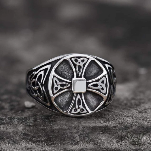 Celtics Knot Cross Stainless Steel Viking Ring - Gthic.com - Blog