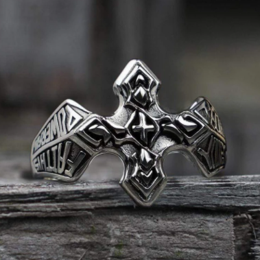Christian Cross Sterling Silver Ring - Gthic.com - Blog