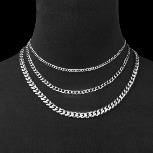 Classic Cuban Link Stainless Steel Chain Necklace - Gthic.com - Blog