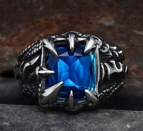 Cool Dragon Claw Stainless Steel CZ Ring - Gthic.com - Blog