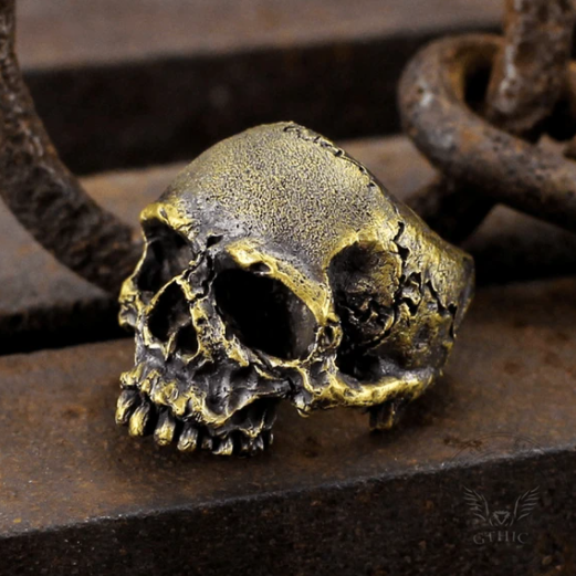 Dark Pioneer Brass Skull Ring - Gthic.com - Blog