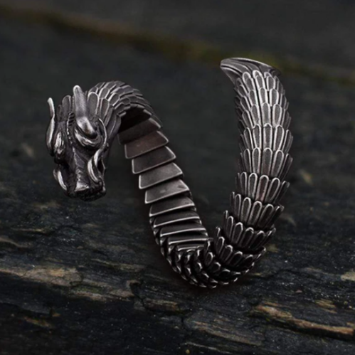 Dragon Scale Stainless Steel Bracelet - Gthic.com - Blog