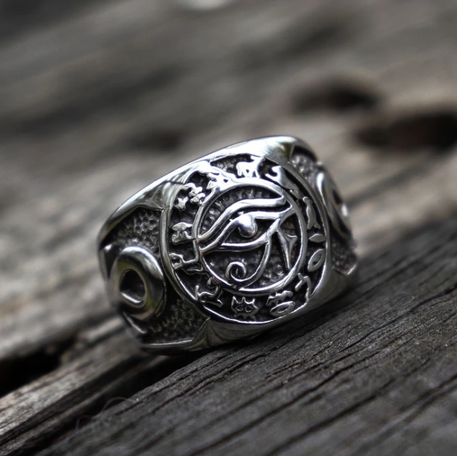 Eye of Horus Ankh Cross Ring - Gthic.com - Blog