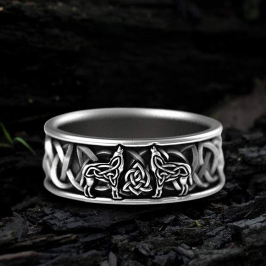 Fenris-Wolf Stainless Steel Viking Ring - Gthic.com - Blog